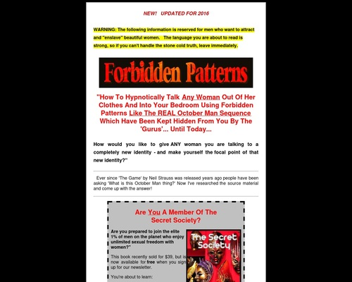 Forbidden Patterns – The October Man Sequence and more!