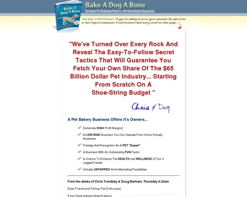 Bake-A-Dog-A-Bone   Step-By-Step Start-up Resources Guide!