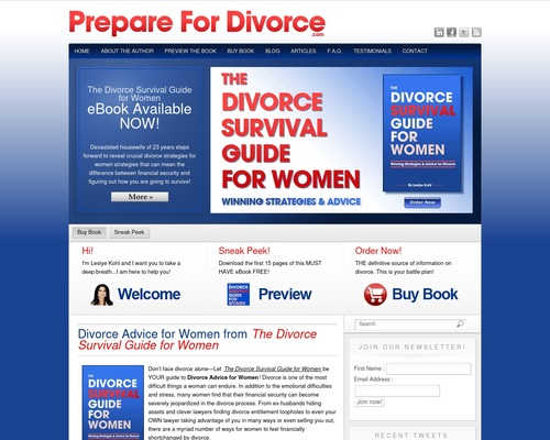 Divorce Advice for Women | Divorce eBook | PrepareforDivorce.com