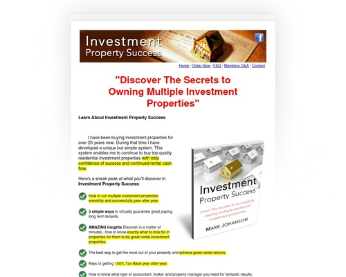 Investment Property Success: Home