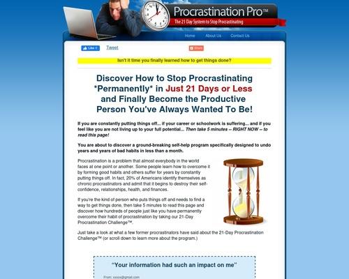 Procrastination Pro ™ – Top Procrastination Offer On Cb!