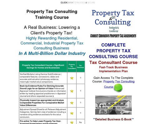 Property Tax Appeal Course for Residential and Business Real Estate