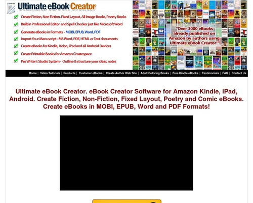 eBook Creator Software – Fiction, Non Fiction, Fixed Layout, Low Content, Ultimate eBook Creator For Amazon Kindle